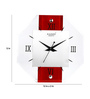 Kaiser Brown & White Wooden 12 x 12 Inch Clock