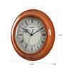 Kaiser Brown Wooden 11.8 Inch Round Wall Clock