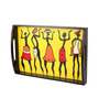 Kalaplanet Handpainted Black Wooden Dancing Warli Tray