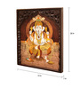 Kalaplanet Ganesha Rose Wood 15 x 1 x 20 Inch Framed Wall Painting