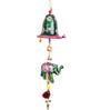Kalaplanet Green Terracotta Traditional Elephant with Bells Door Hanging