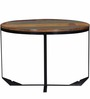 Utica High Coffee Table in Natural Mango Wood Finish by Bohemiana