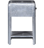 Kanowna Solid Wood Bed Side Table in Metallic Finish by Bohemiana