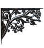Karara Mujassme Cast Aluminium Victorian Style Antique Black Shelf L-Bracket