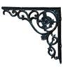 Karara Mujassme Cast Aluminium Victorian Style Antique Black Shelf L-Bracket