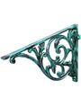 Karara Mujassme Cast Aluminium Victorian Style Antique Green Shelf L-Bracket