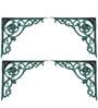Karara Mujassme Cast Aluminium Victorian Style Antique Green Shelf L-Bracket