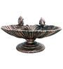 Karara Mujassme European Victorian Style Antique Gold Cast iron Bird Bath