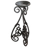 Karara Mujassme Victorian Style Hand-Crafted Antique Black Cast Iron Planter