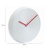 Karlsson White Plastic 19.7 Inch Round Saturn Wall Clock