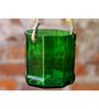 Kavi Hanging Green Glass Planter