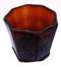 Kavi Recyled Octagonal Table Top Planter-Brown