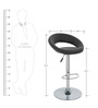 Kayam Bar Chair in Black Colour by The Furniture Store