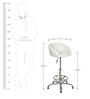 Kaykay Bar Chair In White Color By The Furniture Store