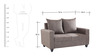 Keiko Two Seater Sofa in Brown Colour by Looking Good Furniture
