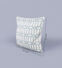 KEH Siege Wool and Cotton Embroidery 20 x 20 Inch Artistic Handmade Chain Stitch Cushion Cover