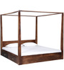 Ilwaco King Poster Bed With Storage In Provincial Teak Finish by Woodsworth