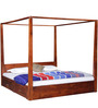 Freemont King Poster Bed In Honey Oak Finish by Woodsworth