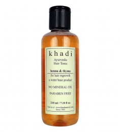 Khadi Ayurvedic Hair Regrowth Tonic - Henna & Thyme (Paraben Free) (210 ml)