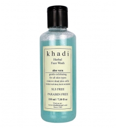 Khadi Herbal Aloe Vera Face Wash (SLS & Paraben Free) (210 ml)
