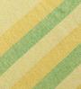 Khadi Yellow & Green Cotton Stripes & Checks 100 x 90 Inch Queen Beds Bed Sheet
