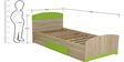Kids Modern Single Bed by Market Finds