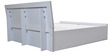 King Bed with Hydraulic Storage in White & Orange Colour by Parin