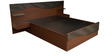 King Bed with Storage & Side Tables in Dark Brown Colour by Parin