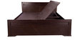 King Bed with Storage in Brown Colour by Karigar