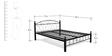 Metallic King Size Bed by FurnitureKraft