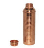 King International Stainless Steel & Copper Jug with Glass and Hammered Bottle - Set of 8