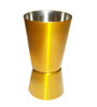 King International Stainless Steel Gold and Silver 30-60 ML Peg Measure - Set of 4