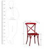 Alva Metal Chair in Red Color by Bohemiana