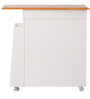 Kenji Two Door Cabinet with One Drawer in White & Cherry Finish by Mintwud