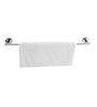 Klaxon Vector Silver Brass 25.6 x 2.8 x 2 Inch Towel Rod