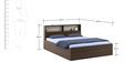 Kosmo Ambry Queen Box Storage Bed in Akazia Brown and White Finish by Spacewood