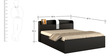 Kosmo Imperial Queen Pull Out Storage Bed in Natural Wenge Color by Spacewood
