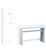 Koba Large Size Console Table in Matte White Colour by Forzza