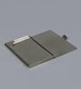 Kolorobia on the Go Metal Blue & Orange Geometric Ikat Visiting Card Holder
