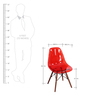 Komako Accent Chair (Set of 2) in Red Colour by Mintwud