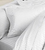 Komfi White Satin Double Bed Sheet with 2 Pillow Covers