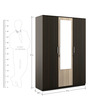 Kosmo Stark Three Door Wardrobe in Fumed Oak & Mountain Larch Finish by Spacewood