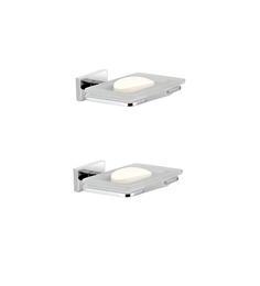 KRM Decor Metallic Brass Soap Dishes - Set Of 2 (Model No: KR-6033)