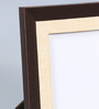 Kraftsmen Brown & Off White Faux Leather & Fabric 8 x 10 Inch Photo Frame