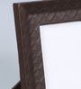 Kraftsmen Brown Faux Leather 8 x 10 Inch Self-Embossed Photo Frame