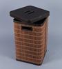 Kraftsmen PU 10 L Brown Laundry Basket