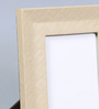 Kraftsmen Beige Faux Leather 8 x 10 Inch Self-Embossed Photo Frame