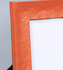 Kraftsmen Orange Faux Leather 8 x 10 Inch Self-Embossed Photo Frame