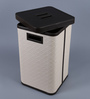 Kraftsmen PU 10 L Beige & Brown Laundry Basket