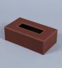 Kraftsmen PU Brown Tissue Paper Holder